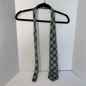 Chaps Green and Blue Plaid Men's Silk Neck Tie